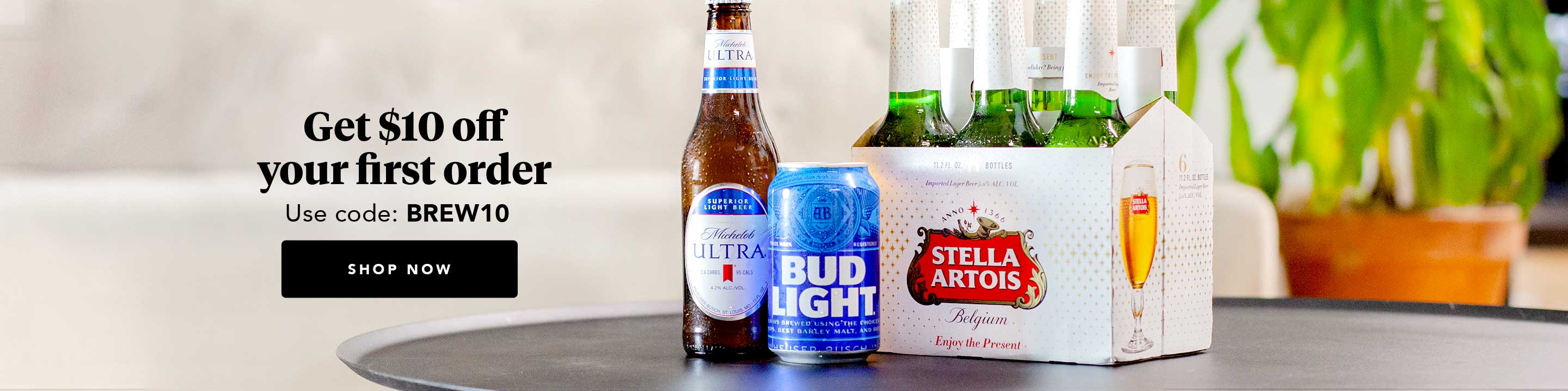 Get Anheuser-Busch products delivered right to your door via Minibar Delivery.