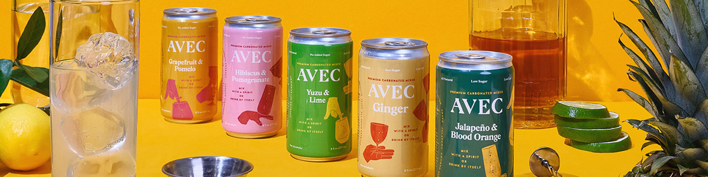 AVEC, a healthy alternative that makes drinking a little better for you without making it any less fun. Our five uniquely delicious, low calorie, low sugar flavors are made from real juices and natural botanicals, made to be mixed with your favorite liquor. And your favorite people.
