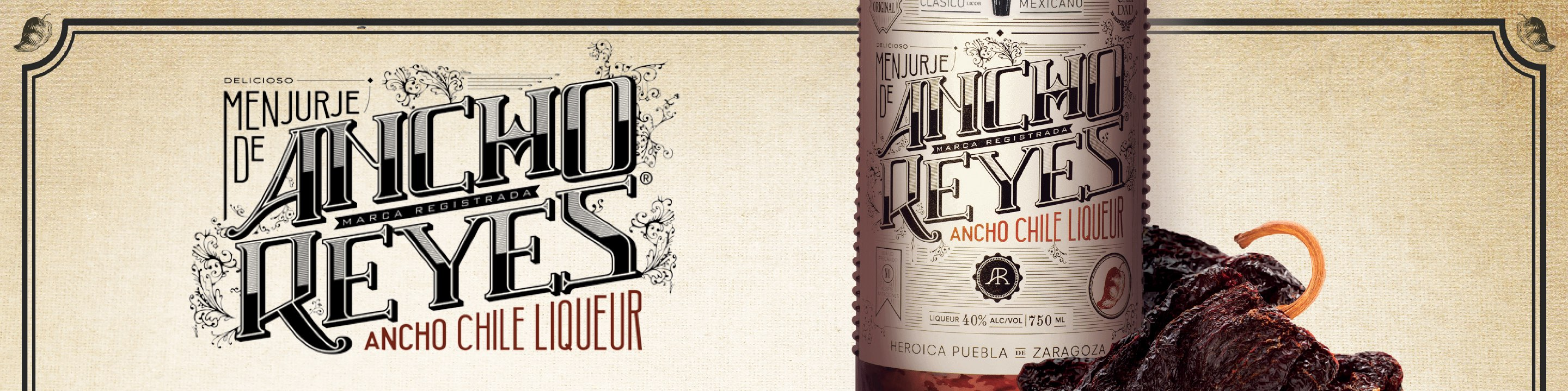 The Original Spicy Liqueur. In 1920s Puebla, the cantinas of the Barrio del Artista bustled with artists and intellectuals who gathered to exchange ideas over original homemade liqueurs known as menjurjes. One especially popular menjurje was handcrafted from the ancho chile. We pay homage to those original recipes with Ancho Reyes Original and Ancho Reyes Verde – authentic Mexican liqueurs steeped in the tradition of Puebla. Buy Ancho Reyes online now from nearby liquor stores via Minibar Delivery.