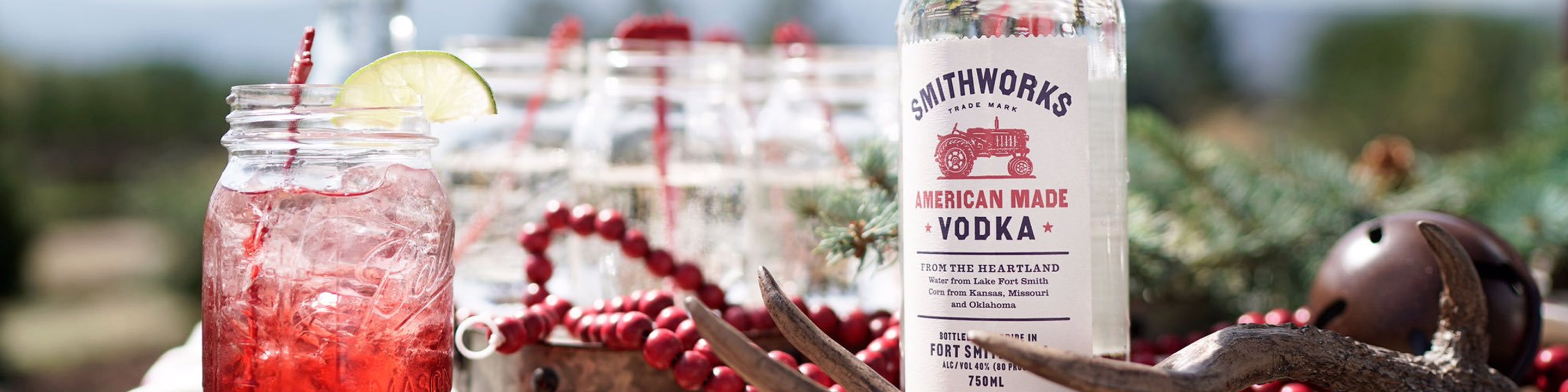 Barstool or backyard, friends or family, neat or otherwise, Smithworks American Made Vodka is the perfect anchor for your good time. It's made with water from Lake Fort Smith, and with corn from Kansas, Missouri, and Oklahoma. Then it's distilled three times and charcoal filtered for a smooth taste and clean finish. Buy Smithworks online now from your nearby liquor store via Minibar Delivery.