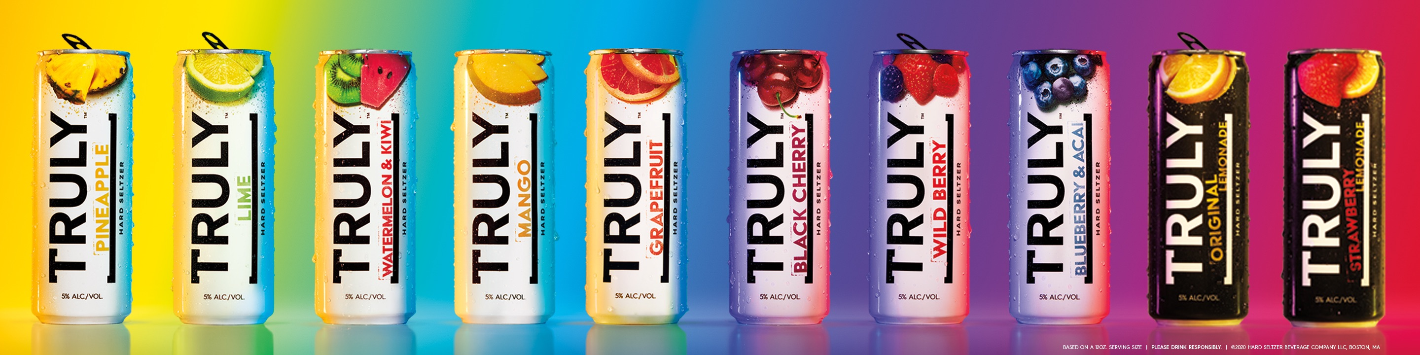 Truly Refreshing Styles. Made Simply. We searched the world to find the highest quality fruits that make Truly so delicious. Every batch is made with simple, natural ingredients and hints of fruit. No artificial flavors or sweeteners. Just 100 calories and 5% Alc./Vol.