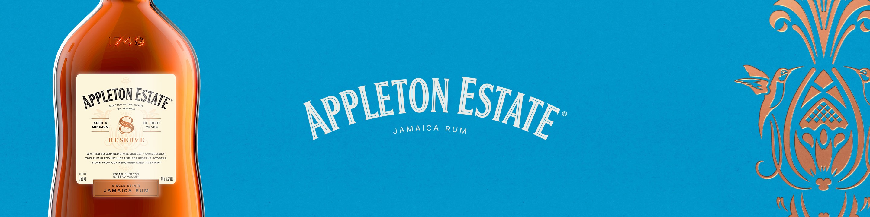 The Appleton Estate, a glorious and fertile land located in the heart of Jamaica, is the birthplace of all Appleton Estate Jamaica Rum, and the employees at Appleton Estate have been crafting this rum with the warmth, passion, and unique sprit of Jamaica for over 265 years.     The Appleton Estate is nestled in the Nassau Valley which is located in Jamaica's famous Cockpit Country – a unique and beautiful rugged terrain.  The Nassau Valley's fertile soil, afternoon rain showers, and warm sunshine present the optimum conditions for growing sugar cane.      At the Appleton Estate the production of rum is a craft. Every step in the process is carefully controlled, from the selection of the varieties of sugar cane that are grown on the Estate, to the natural culture of yeast and the crystal clear water from the Estate's spring that is used in fermentation, to our unique distillation and blending methods.     The beautifully complex and aromatic Appleton Estate rums are of a unique style, produced only in Jamaica, and only at the Appleton Estate. All Appleton Estate rum is produced on a single estate in a small circumscribed geographic area, which makes it one of the few rums in the world to claim a terroir (the sum of the effects that the local environment has on the production of the product), and the only rum in the world that has a terroir as unique as the Nassau Valley.  Buy Appleton Estate Rum online now from nearby liquor stores via Minibar Delivery.