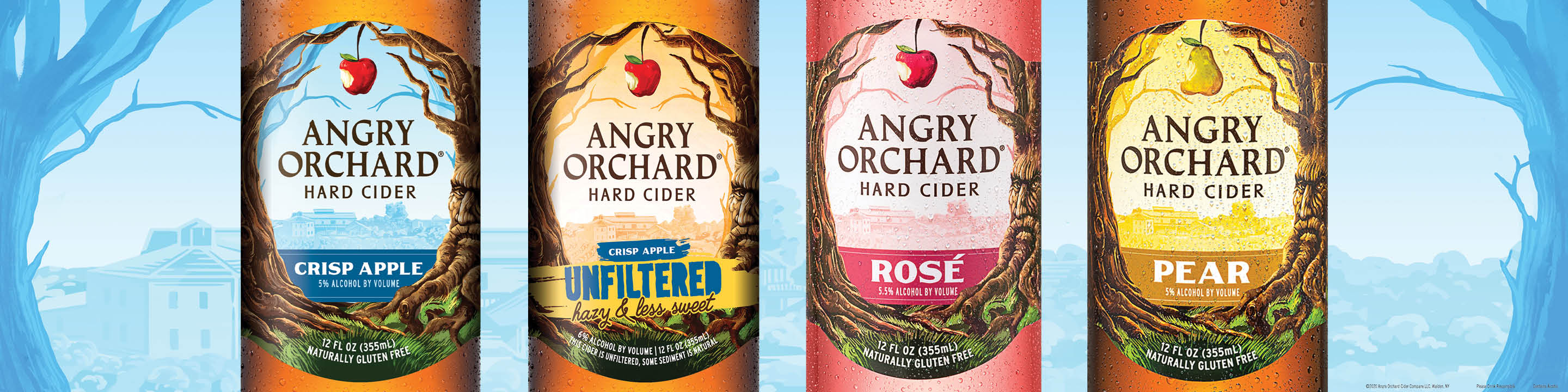 Angry Orchard Hard Ciders are crafted in the heart of the Hudson Valley.  We are committed to bringing traditional cider varieties and lost heirloom varieties back to the United States. As such, certain areas of the orchard are designated for new cider apple plantings and varietal research, in collaboration with local institutions and growers.