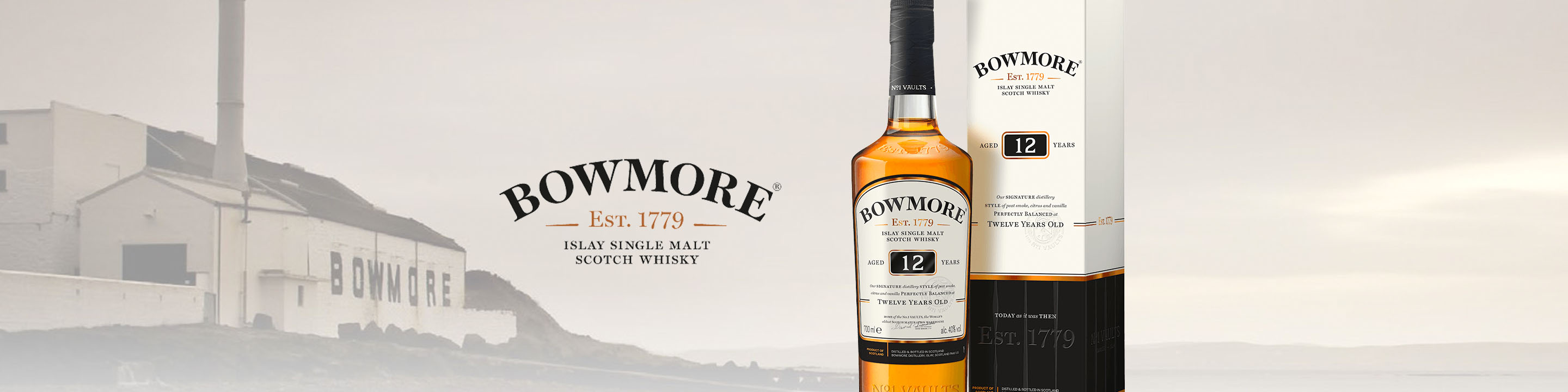 Founded in Islay in 1779, Bowmore is the home of the world's oldest Scotch Maturation Warehouse, The Legendary No.1 Vaults.