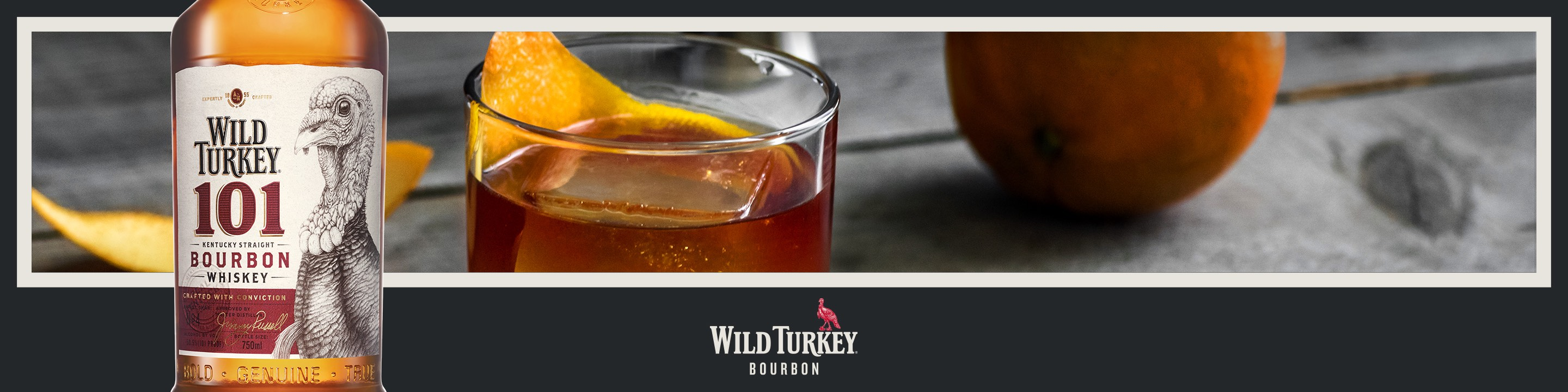 """Uncompromising since 1855, Wild Turkey is the Real Kentucky Straight Bourbon Whiskey. Using only natural processes, Wild Turkey products are aged in new American white oak barrels with the deepest #4 """"alligator"""" char, giving them a rich russet color while carrying full flavors of vanilla and smooth caramel. The father-son Master Distiller team of Jimmy Russell and Eddie Russell have more than 90 years combined experience and with that experience comes the knowledge that they make their bourbons and ryes the right way, every time. Complementing the classic Wild Turkey 101 Bourbon are Wild Turkey Bourbon and Rye, Rare Breed, Kentucky Spirit, Forgiven and Spiced. Wild Turkey is a true American icon and has won many U.S. and International awards, including the American Tasting Award of Excellence, and most recently the Double Gold Medal at the San Francisco World Spirits Competition. Buy Wild Turkey online now from nearby liquor stores via Minibar Delivery."""