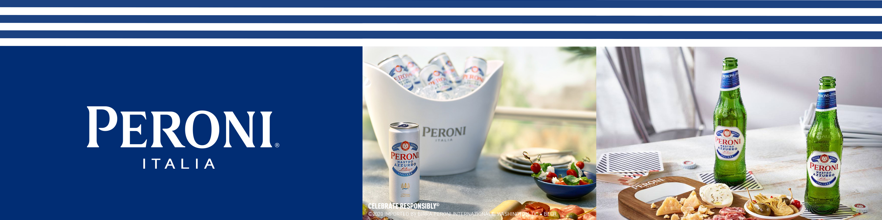 Get the authentic taste of Italy delivered right to you. Peroni Nastro Azzurro is a premium Italian lager with a crisp, refreshing taste that elevates every occasion. Enjoy the classic, effortless Italian style of Peroni at home and sip elegantly. Whatever you do, do it beautifully.