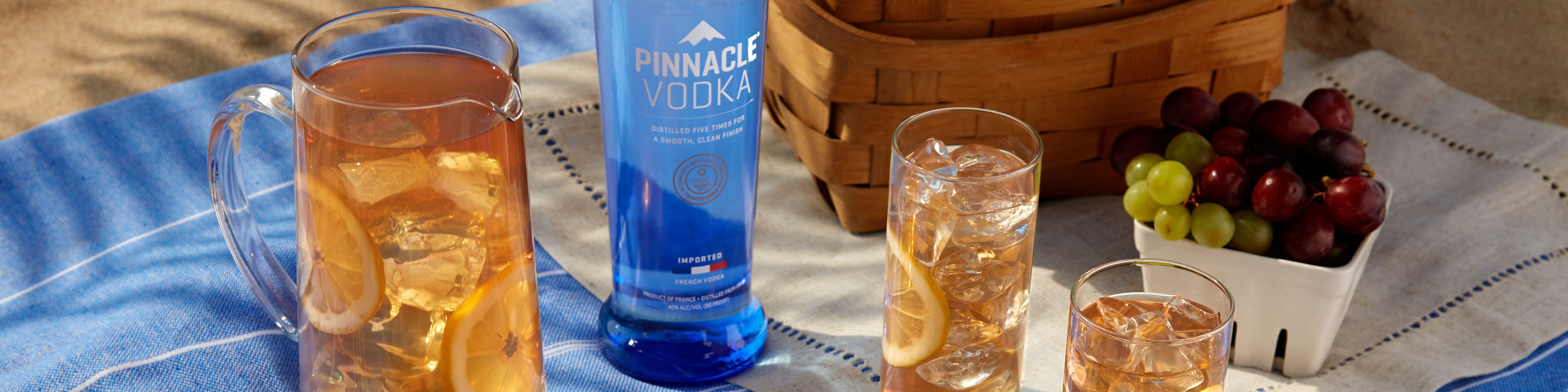 Distilled five times for smoothness, this vodka leaves no doubt as to why it's considered a classic. Enjoy in a shot, a simple mixed drink or a finely crafted cocktail.  Buy Pinnacle online now from nearby liquor stores via Minibar Delivery.