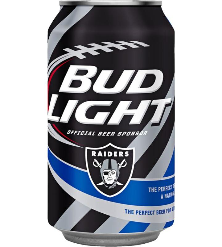 Bud Light Oakland Raiders Nfl Team Can Order Online