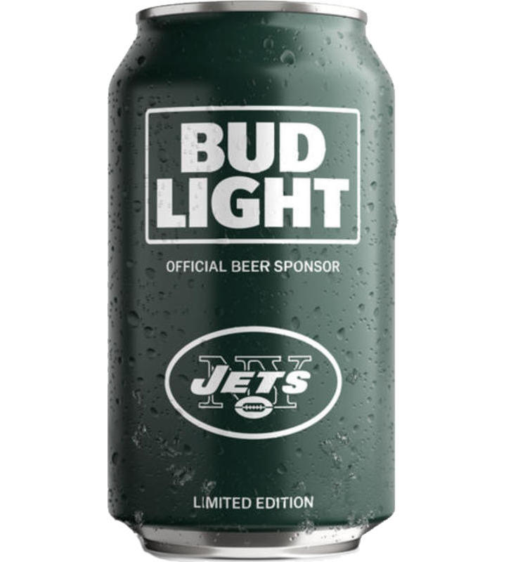 Bud Light New York Jets NFL Team Can