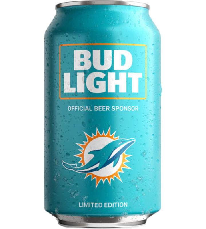 Bud Light Miami Dolphins NFL Team Can